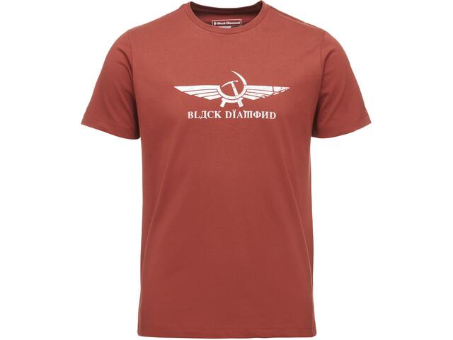 Black Diamond Perestroika Lyhythihainen T-paita Miehet, brick